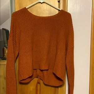 F21 Ribbon-backed sweater